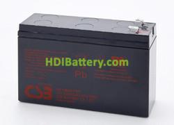 Batería para moto electrica 12v 6,5ah Plomo AGM HR1224W CSB
